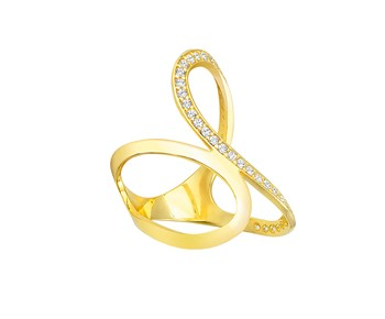 New style gold glamorous ring in K14