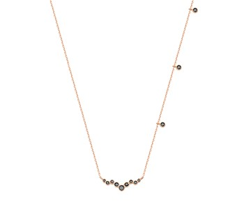 Gold fashion necklace in 14K