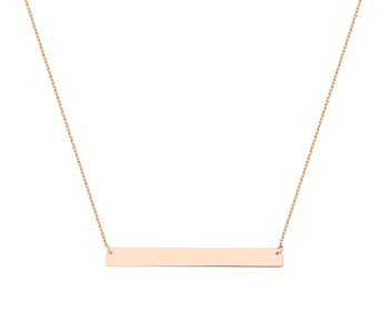 Gold fancy necklace in 14K