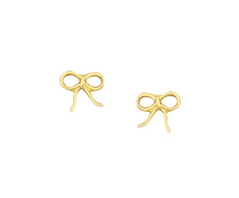 Gold children earrings in 14K