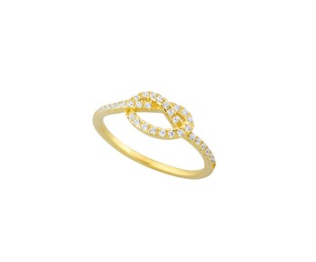 Gold ring with stones 14K