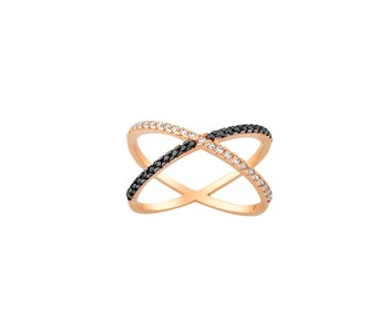 Gold fashion ring with stones 14K