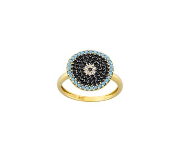 Gold fashion ring with stones14K
