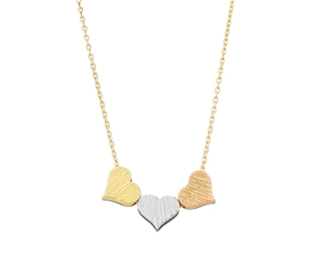 "Gold fashion necklace in 14K ""hearts"""