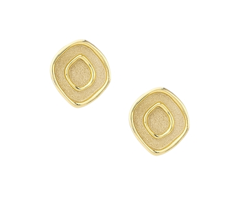 Gold handmade earrings in 14K