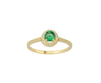 Gold fashion ring in 14K with gemstones
