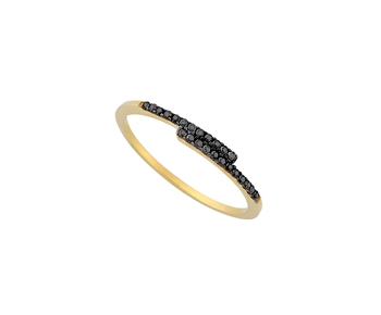 Gold ring in 14K with gems