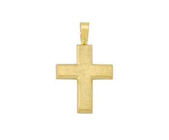 Gold handmade cross in 14K