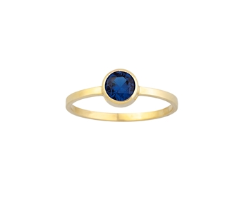 Gold ring in 14K with coloured gem
