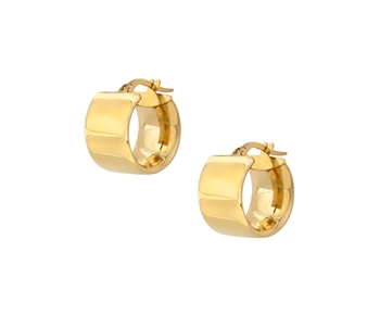 Gold hoop earrings in 14K