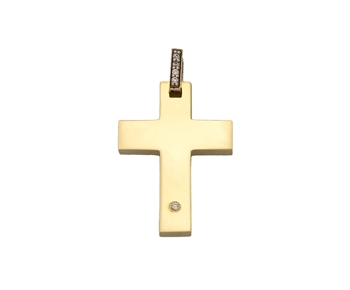 Gold cross in 14K with gems