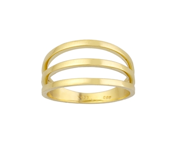 Gold fashion ring in 14K
