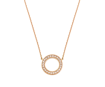 Gold fashion necklace in 14K the circle of life