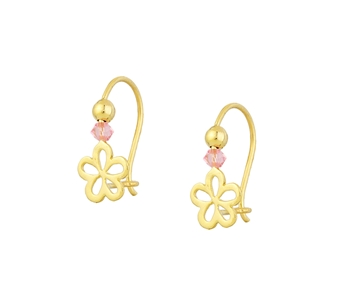 Gold fashion earrings in 14K