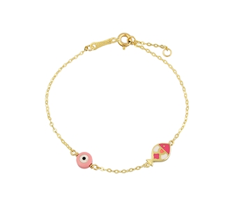 Gold fashion bracelet in 14K