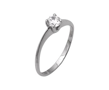 Gold solitaire ring in K14
