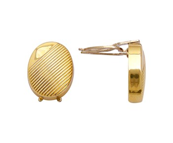 Gold cufflinks that encloses the button