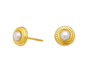 Gold earrings in Κ9 with stone